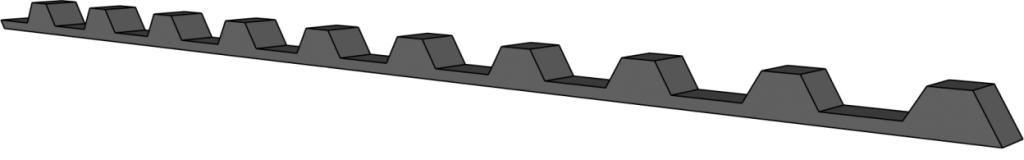 Tettebånd liten for trapesplate mot raft
